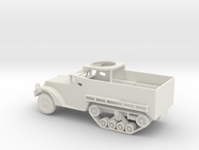 1/87 Scale M3 HalfTrack w tube in White Natural Versatile Plastic