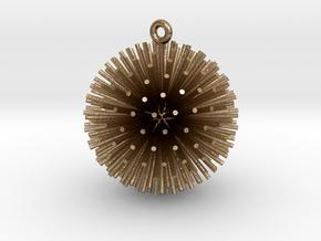Dandelion Xmas Ball in Polished Gold Steel
