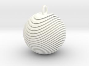 Organio Xmas Ball in White Processed Versatile Plastic