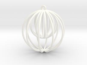 Ballception Xmas Ball in White Processed Versatile Plastic