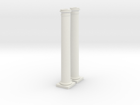 2 Columns 3500mm high at 1 to 76 in White Natural Versatile Plastic