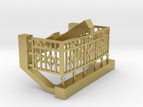 Gunnison parlor end railing in Natural Brass