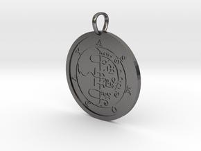 Asmoday Medallion in Polished Nickel Steel