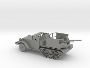 1/87 Scale M15A1 HalfTrack with 37mm AA Gun in Gray PA12