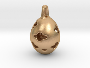 Rose Cocoon - Pendant - Orphic Eggs in Natural Bronze (Interlocking Parts)