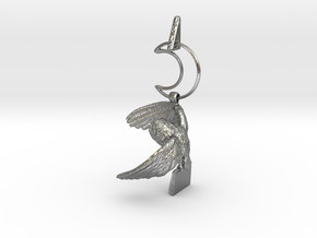 Owl Familiar - Pendant - West Coast Witch in Natural Silver (Interlocking Parts)