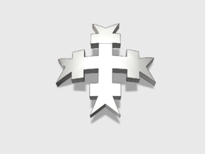 60x Templar Cross : Shoulder Insignia pack in Smooth Fine Detail Plastic