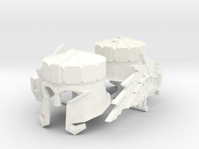 DAIN IRONFOOT HELMET x2 in White Processed Versatile Plastic