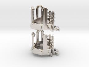 KR Luke Hero - Part3 Lightsaber Chassis in Rhodium Plated Brass