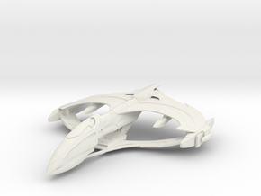 Romulan Aelahl Class Light Warbird in White Natural Versatile Plastic