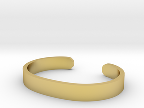 Cosplay Cuff (6.5cm x 4.5cm) Set 1 in Polished Brass: Extra Small