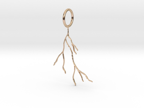 Tree Roots Pendant in 14k Rose Gold