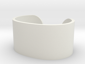Cosplay Cuff (6.5cm x 4.5cm) Set 2 in White Natural Versatile Plastic: Extra Small