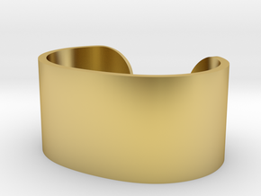 Cosplay Cuff (6.5cm x 4.5cm) Set 2 in Polished Brass: Extra Small