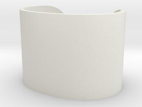 Cosplay Cuff (6.5cm x 4.5cm) Set 2 in White Natural Versatile Plastic: Large