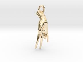 Surya Mudra Pendant (Right Hand) in 14K Yellow Gold