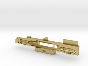GE U36B chassis frame right in Natural Brass