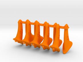 10 pcs. 29mm F2D Control Horn - v2.1 in Orange Processed Versatile Plastic