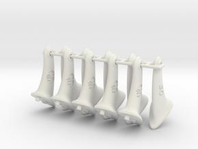 10 pcs. 30mm F2D Control Horn - v2.1 in White Natural Versatile Plastic