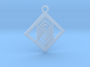 Geometrical pendant no.14 in Smooth Fine Detail Plastic: Large