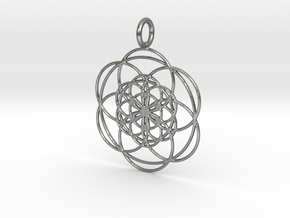 Seed in Seed 34mm in Natural Silver