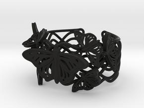 Butterflies in Love_ Bracelet_ S in Black Natural Versatile Plastic