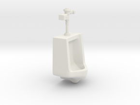 1:18 Scale Urinal with Auto Flush Unit in White Natural Versatile Plastic