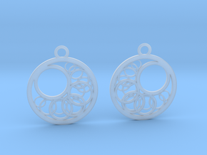 Geometrical earrings no.16 in Smooth Fine Detail Plastic: Small