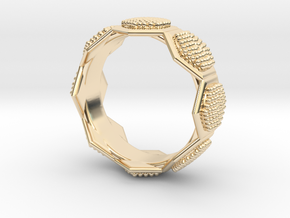 Seeds of life ring in 14K Yellow Gold