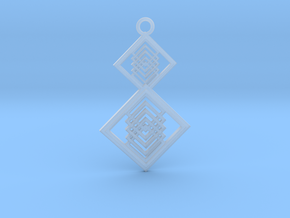 Geometrical pendant no.15 in Smooth Fine Detail Plastic