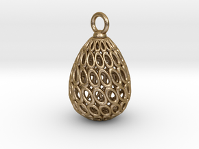 Egg Pendant in Polished Gold Steel