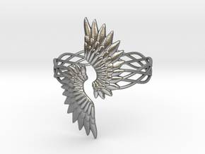 Angel Wings Ring in Natural Silver: 6.5 / 52.75
