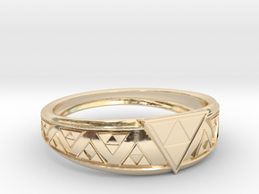 Triangle Force  in 14k Gold Plated Brass: 9 / 59