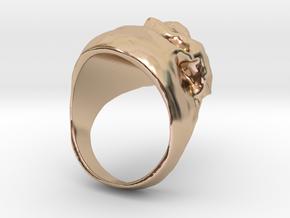 Skull Big Ring in 14k Rose Gold: 7.5 / 55.5