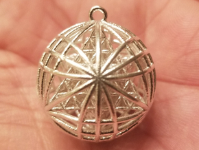 "Tantric Star of Awesomeness 1"" Pendant Small in Natural Silver"