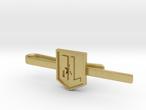 Justice League Tie Clip in Natural Brass: Small