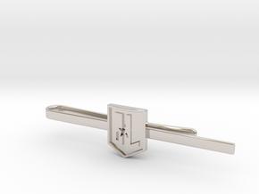 Justice League Tie Clip in Rhodium Plated Brass: Medium