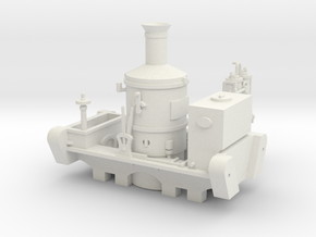 00 Scale 'Glynn' Shunter (Fictional) in White Natural Versatile Plastic
