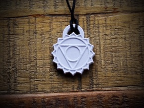 Throat Chakra Aromatherapy Pendant in Natural Sandstone