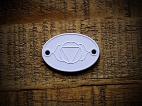 Third Eye Chakra Aromatherapy Convertible Pendant in Natural Sandstone