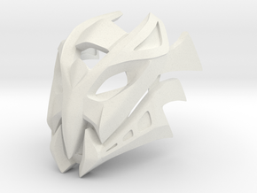 Great Mask of Incomprehension (Makuta) in White Natural Versatile Plastic
