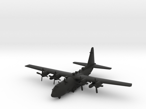 Lockheed AC-130U Spooky in Black Natural Versatile Plastic: 1:239