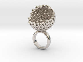 Coconto 1 in Rhodium Plated Brass