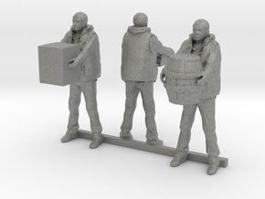 HO Scale Dock Workers in Gray Professional Plastic