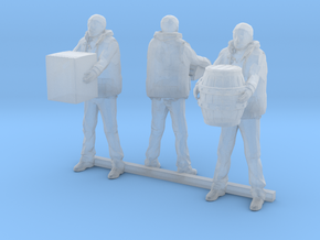 S Scale Dock Workers in Smooth Fine Detail Plastic