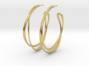 Cosplay Looped Hoop Earring (no guide holes) in Polished Brass