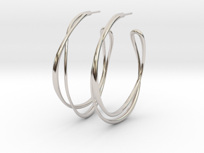 Cosplay Looped Hoop Earring (no guide holes) in Rhodium Plated Brass