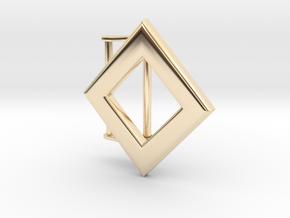 Diamond Belt Buckle in 14k Gold Plated Brass