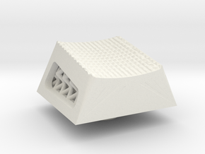 Studded Lattice Cherry MX R4 keycap in White Natural Versatile Plastic