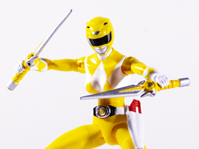 Mighty Yellow Accessory - Power Rangers  in White Natural Versatile Plastic